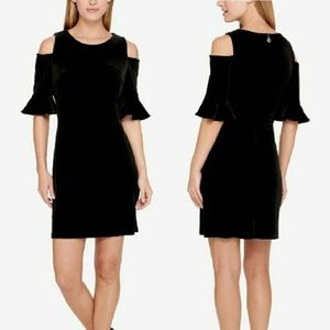 Tommy Hilfiger black cold shoulder dress Size 4